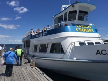 Boat tour of Bar Harbor