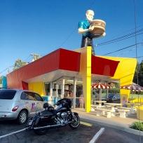 Muffler Man Holding Hamburger in Kingsport, TN